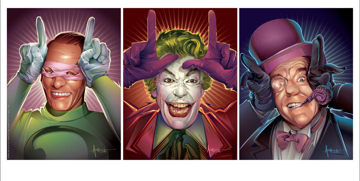Dark Hall Mansions Prints: Batman '66 - Villains