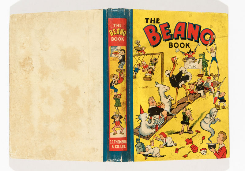 Beano Book Number One (1940). Pansy Potter balances the Beano gang. From the Brenda Butler archive