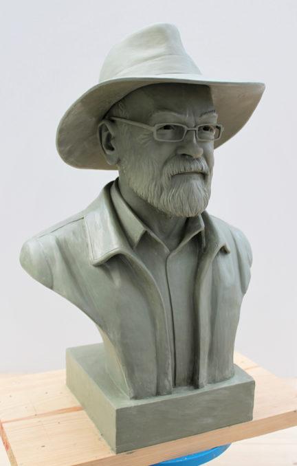 Sir Terry Pratchett Memorial Statue Bust