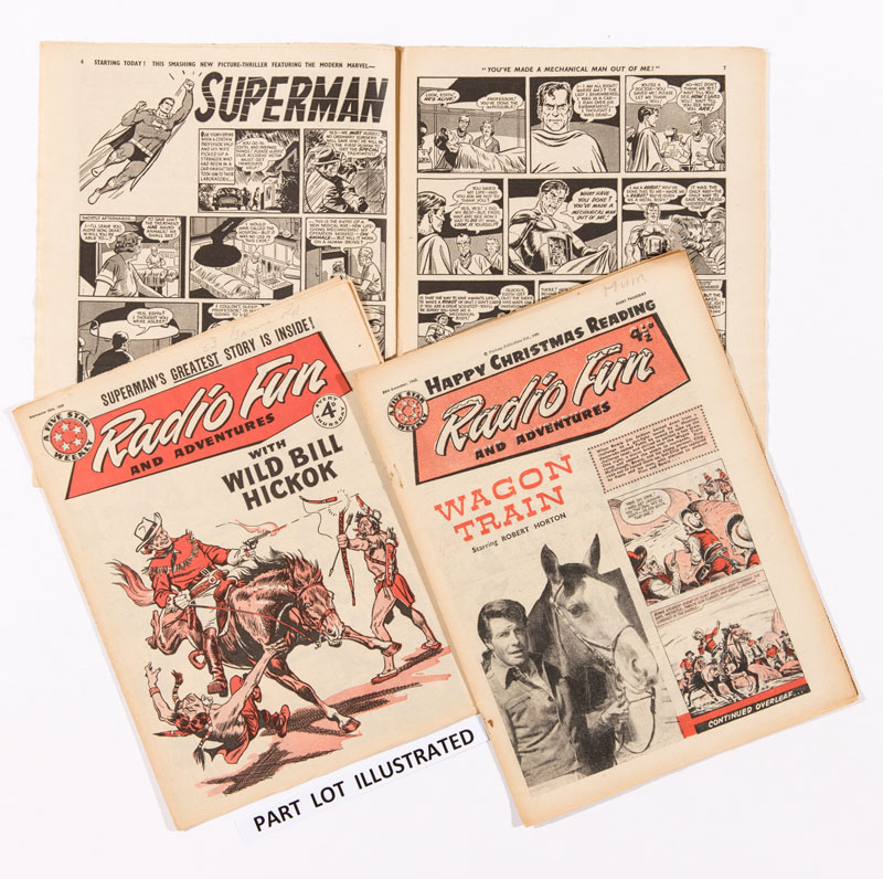 Radio Fun 'Superman' issues (1959-60) 1959: Sept 12, 26. 1960: 38 issues between Jan 6 - Dec 31. All with US Superman double-page reprints.