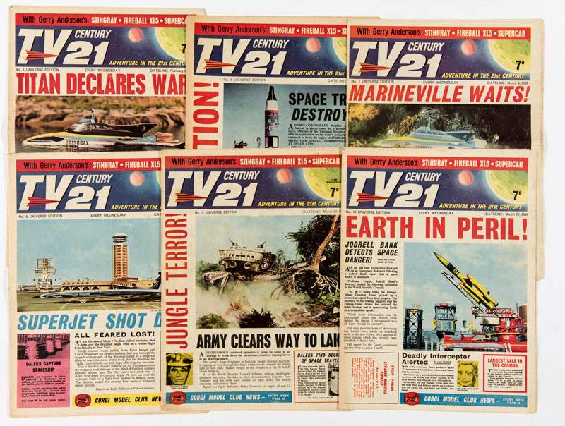 Just a few of the issues of TV Century 21 on offer in the ComPal Winter 2016 auction