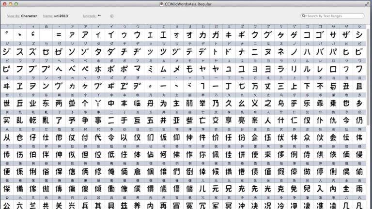 Wildwords Manga Font - Characters