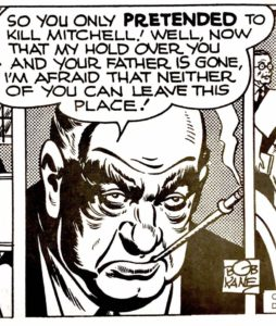 "Greenstreet ""cast"" as a Batman villain for the Batman newspaper strip. Art by Jack Burnley (despite the stylised Bob Kane signature!)"