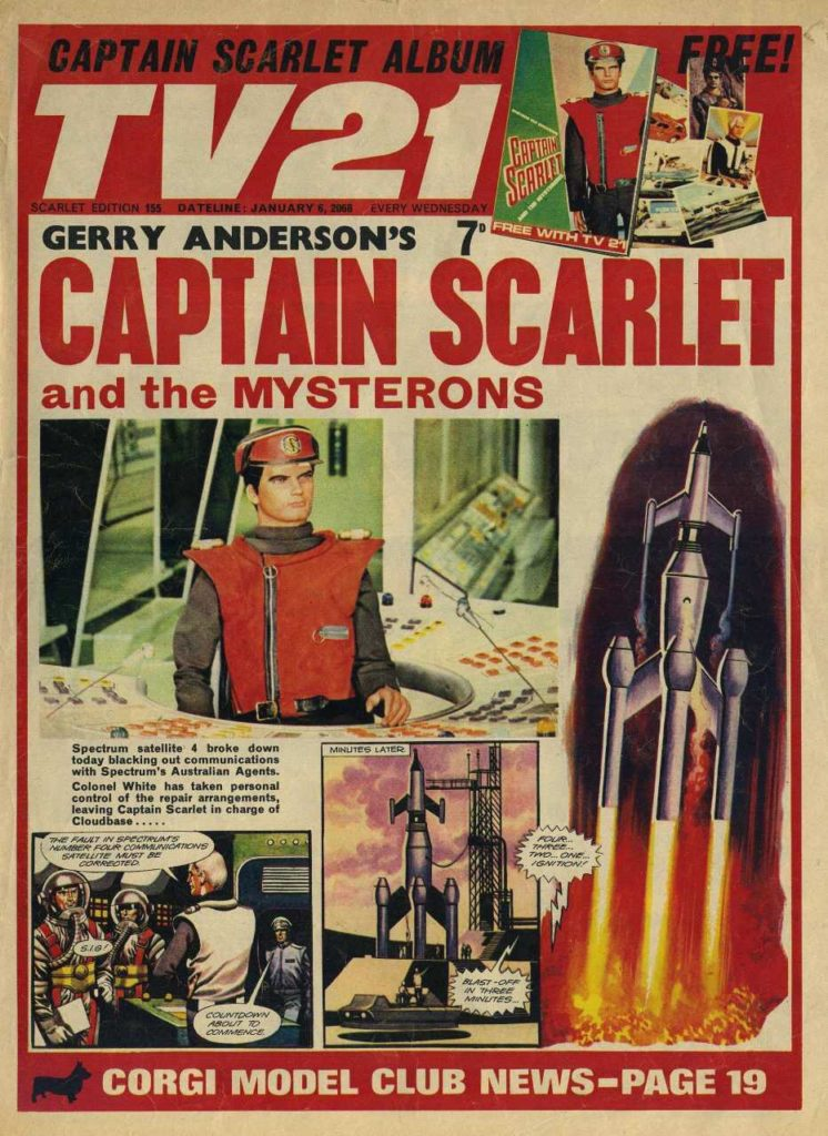 TV21 Issue 155 - Captain Scarlet cover