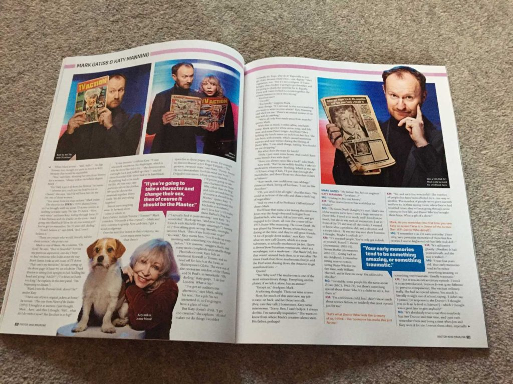 Doctor Who Magazine 508 - Gatiss Manning Interview Sample