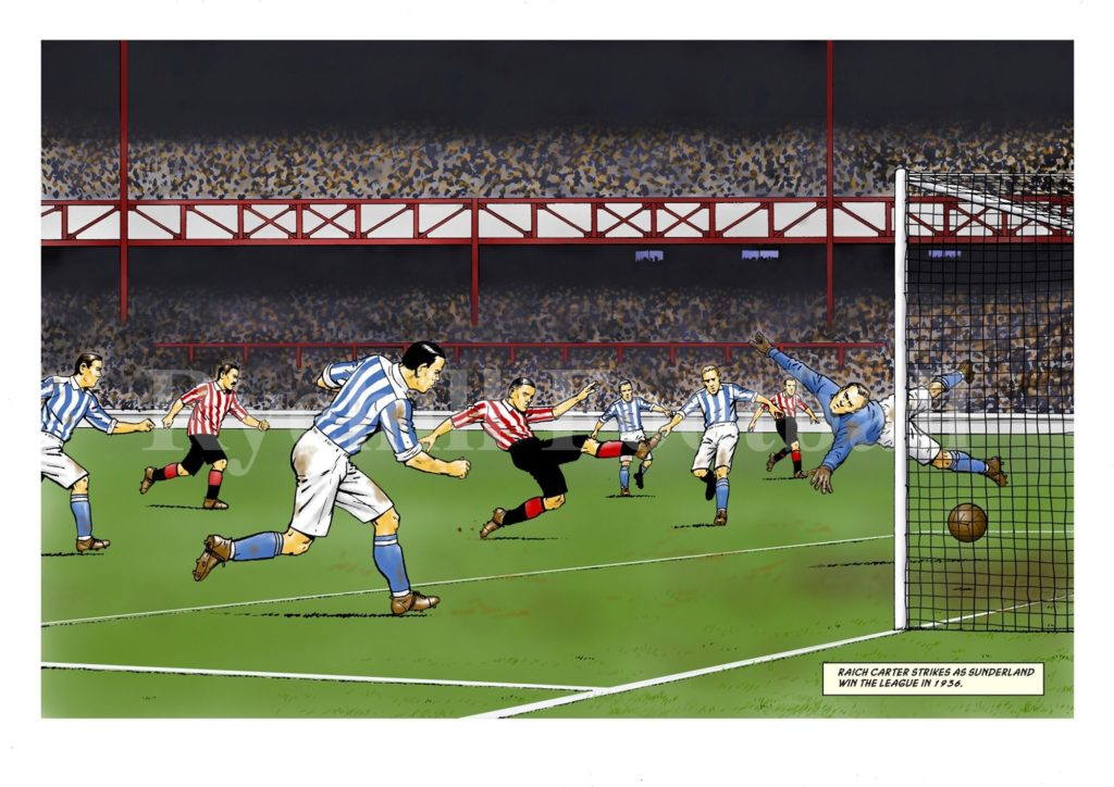 David Sque's Sunderland AFC print, which of course is available without watermark to fans of the club. It features Raich Carter, in a scene from a 1936 game