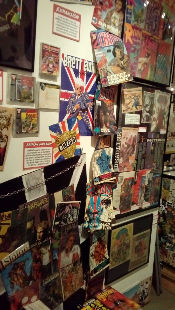 Beyond 2000AD - Orbital Comics 2017 - Wall 4 - Comics
