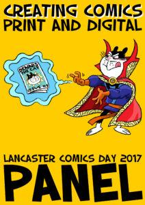 Lancaster Comics Day 2017 - Creating Comics Poster