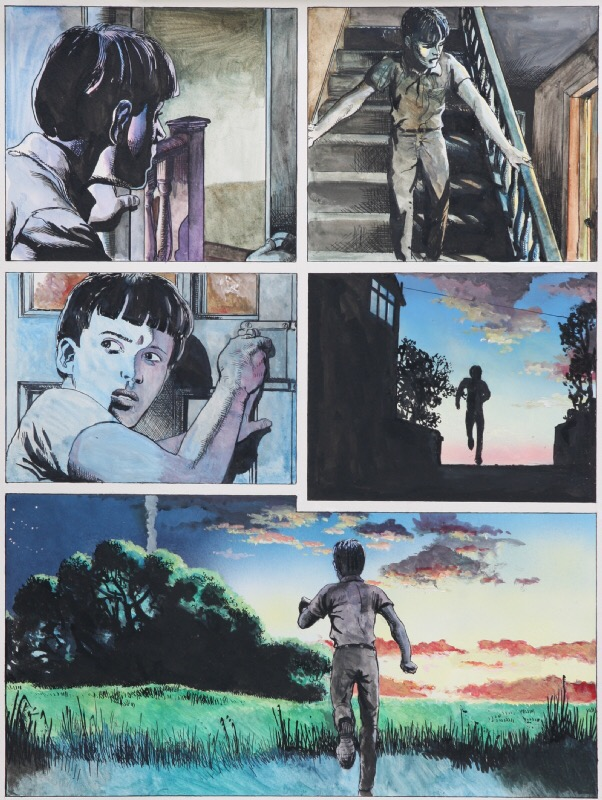 """A page from """"The Night Walker"""", the Luke Kirby adventure published in 1992"""