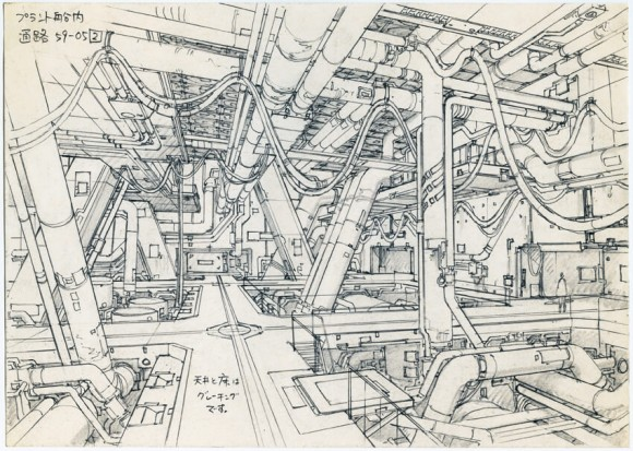 Art by Takashi Watabe for Ghost in the Shell 2: Innocence