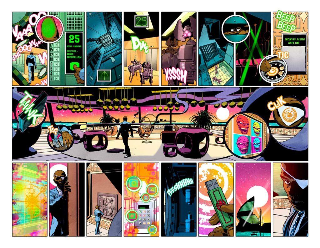 Nick Fury #1 -Sample Art