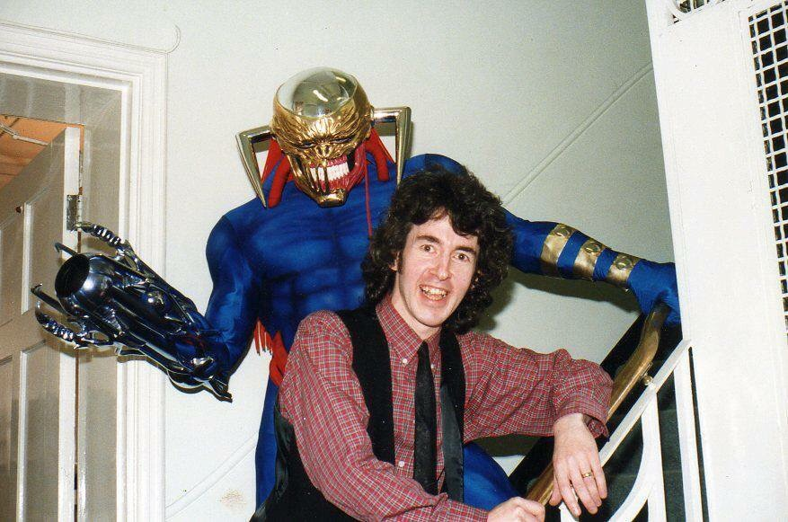 Tim Quinn and Death's Head, back in Tim's Marvel UK days, lurking in the company's Arundel House headquarters in the 1990s.