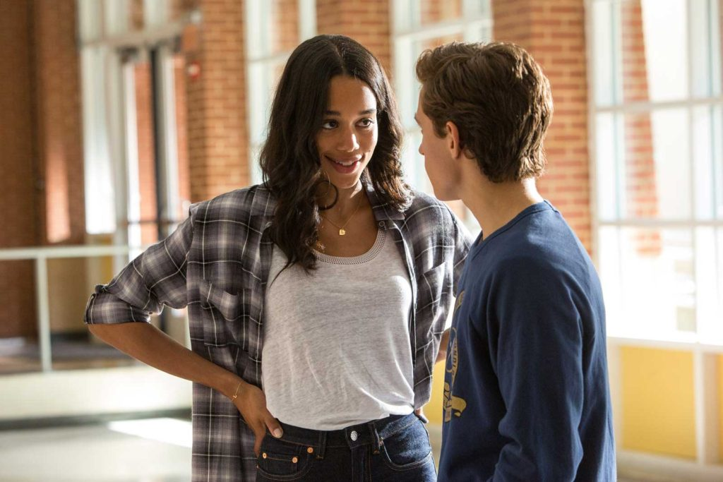 Laura Harrier and Tom Holland in Spider-Man-Homecoming