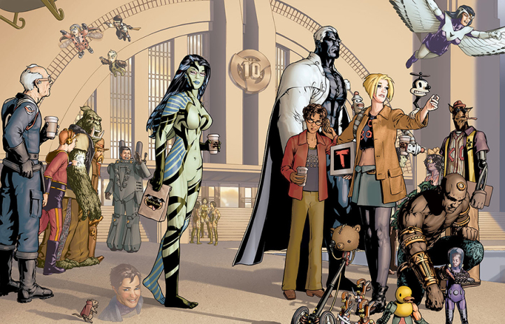 Gene Ha and Zander Cannon's art for Alan Moore's Top 10