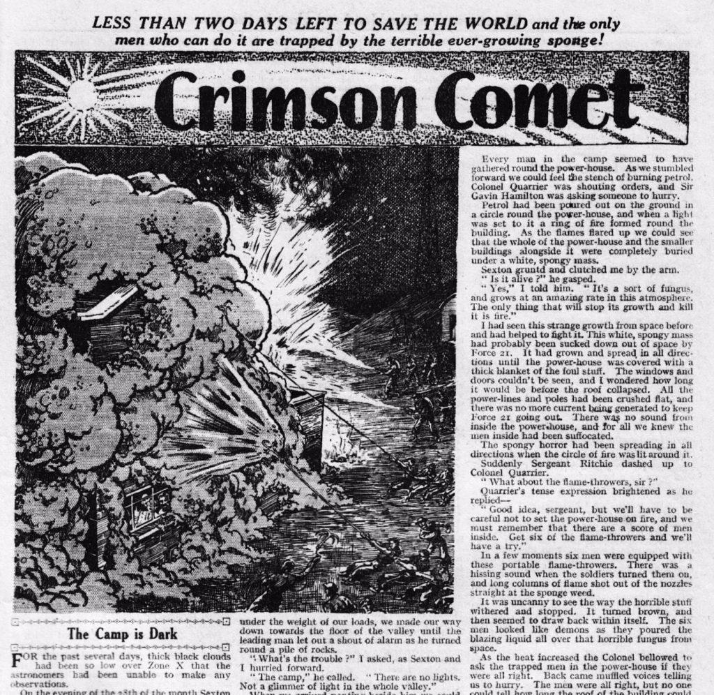 """""""Crimson Comet"""" - Wizard, 1946"""