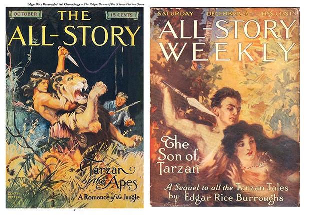 Tarzan All-Story Magazine Covers