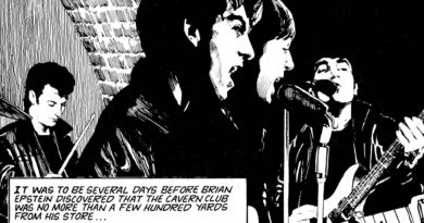 The Beatles performing in the Cavern Club