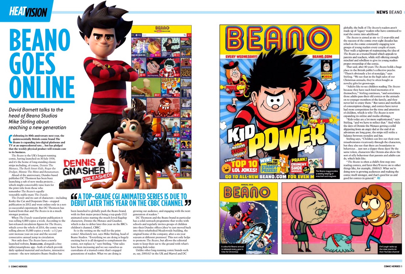 Comic Heroes Issue 32 - Beano Feature