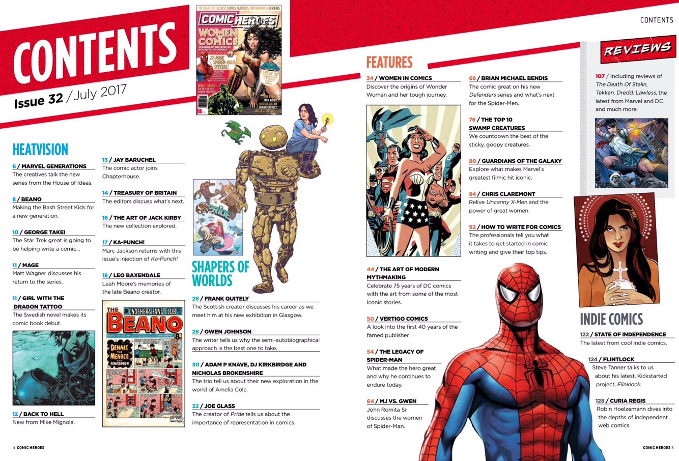 Comic Heroes Issue 32 - Contents