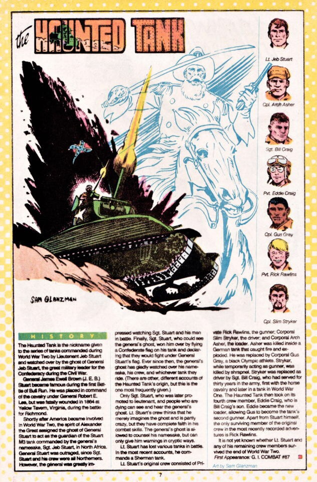 Final page for Who's Who: The Definitive Directory of the DC Universe (1985) #10 by Sam Glanzman