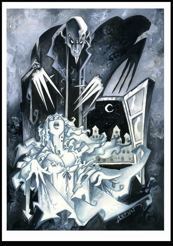Alphonso Azpiri's take on the classic film vampire, Nosferatu
