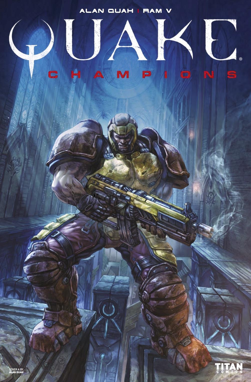 Quake Champions #1 - Cover A by Alan Quah