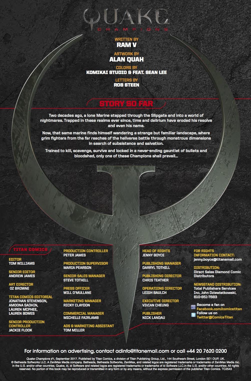 Quake Champions #1 - Credits