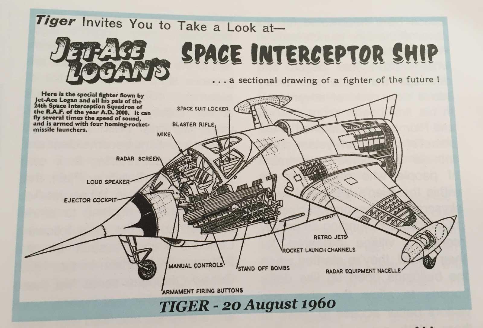 Jet Ace Logan Interceptor. Art © TimeUK
