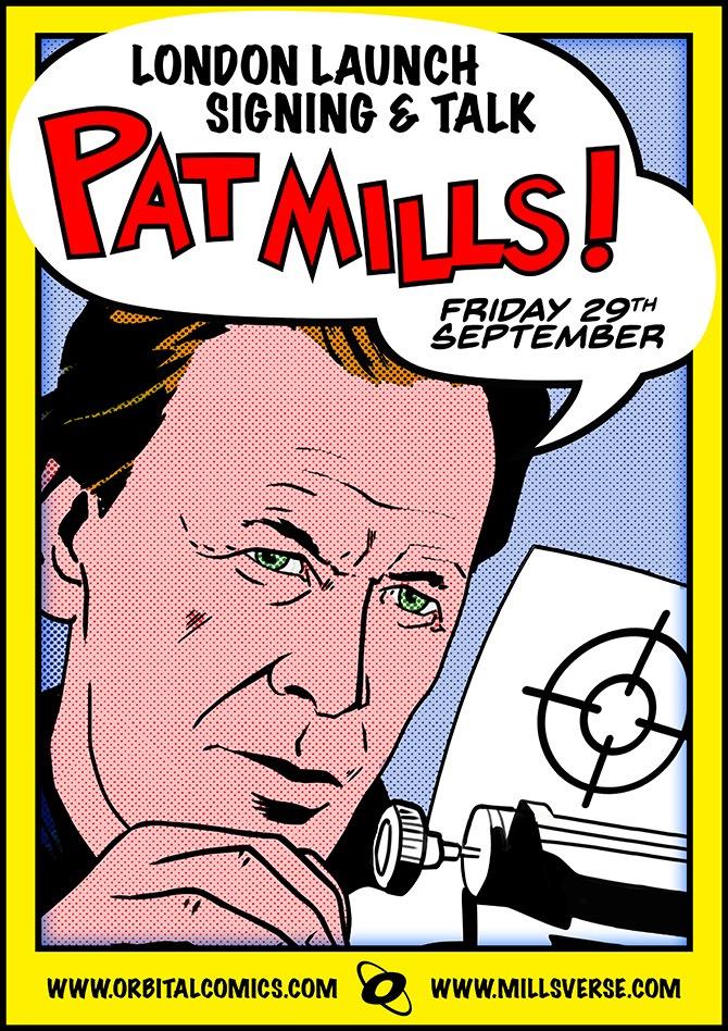Pat Mills Signing - Orbital Comics - September 2017