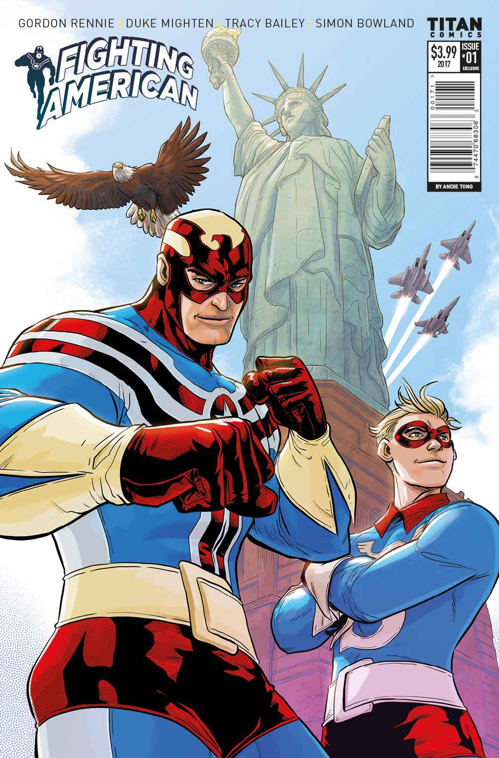 Fighting American Issue #1 NYCC Exclusive Cover: Andie Tong