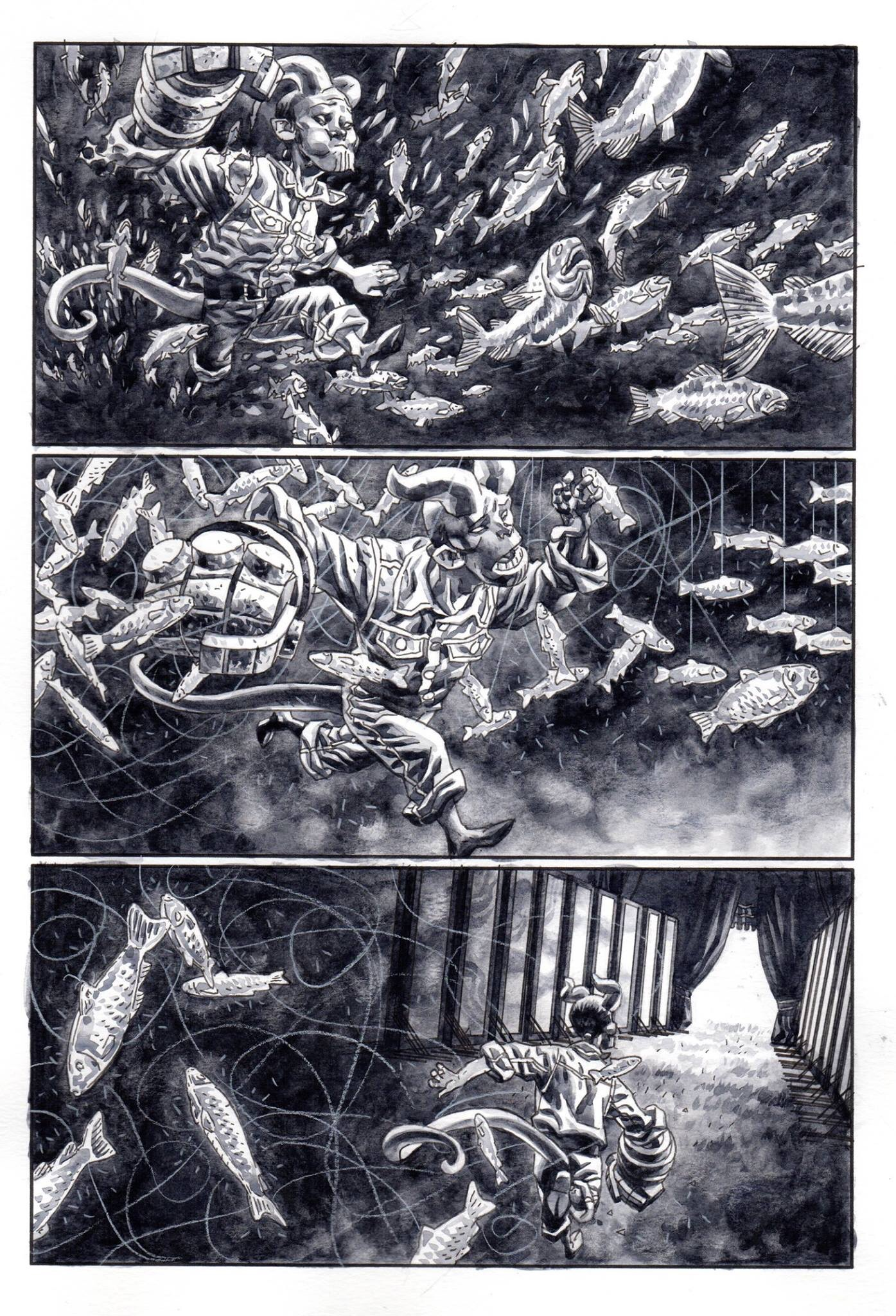 Art by Duncan Fegredo for Hellboy – The Midnight Circus