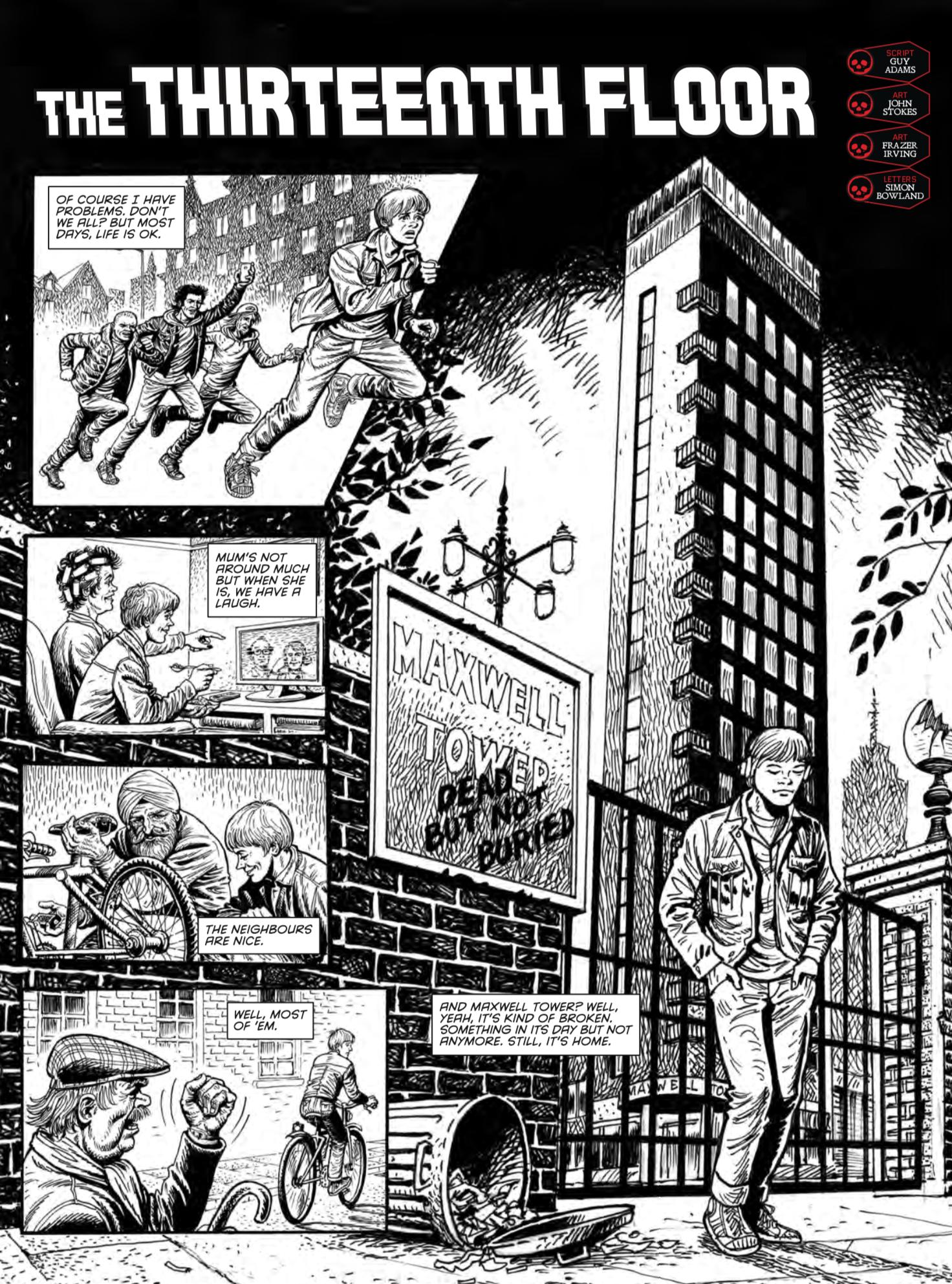 """The Thirteenth Floor"" by Guy Adams, John Stokes and Frazer Irving"