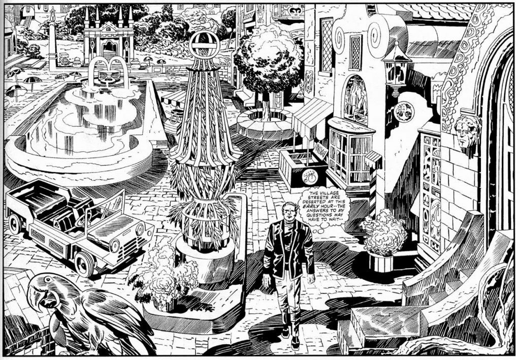 The Prisoner by Kack Kirby Sample Art