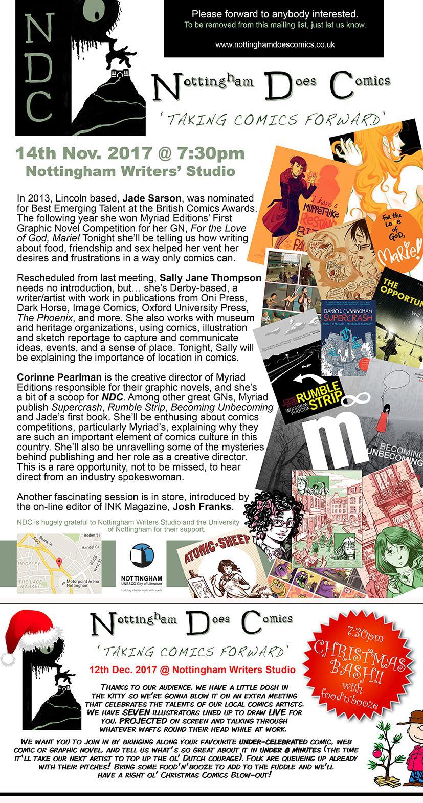 Nottingham Does Comics - November 2017