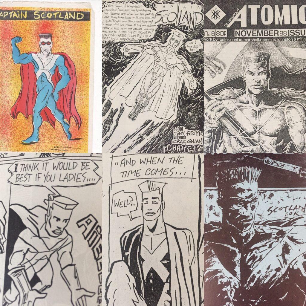 Captain Scotland - Atomic Strip Montage