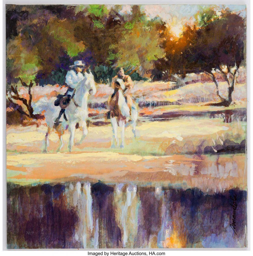 Sal Amendola - Lone Ranger and Tonto Preliminary Painting Original Art