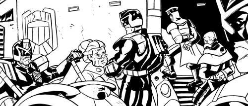 Judge Dredd – Revenge by writer Ed Whiting and artist Jim Lavery