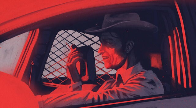 A concept art illustration by Jacob Phillips for Chris Condon's new film Past Is Prologue