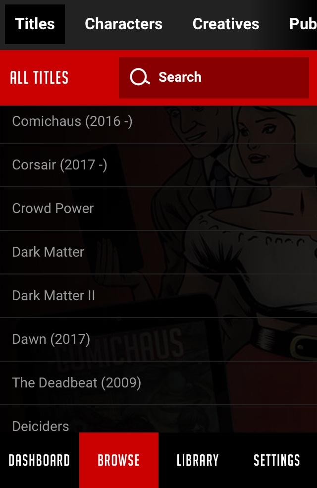 Comichaus App - Screen 3