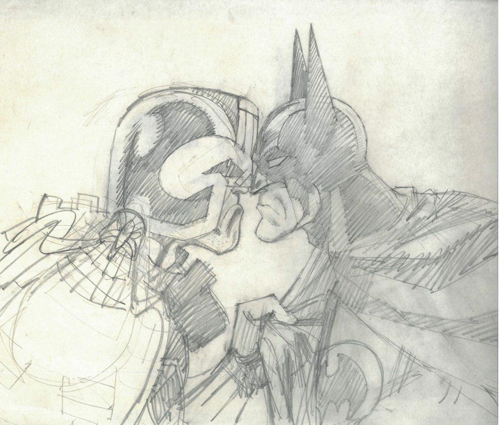 Judge Dredd versus Batman - art by Jim Baikie