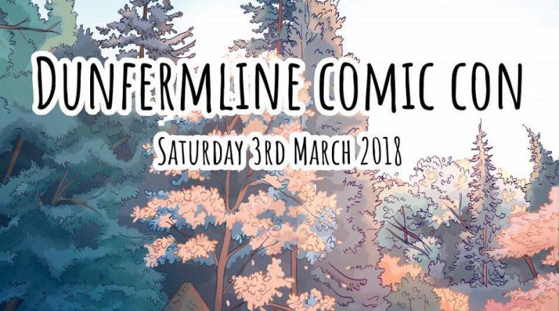 Dunfermline Comic Con 2018 Poster SNIP