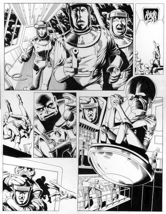 Dan Dare TV series concept strip by Brian Bolland