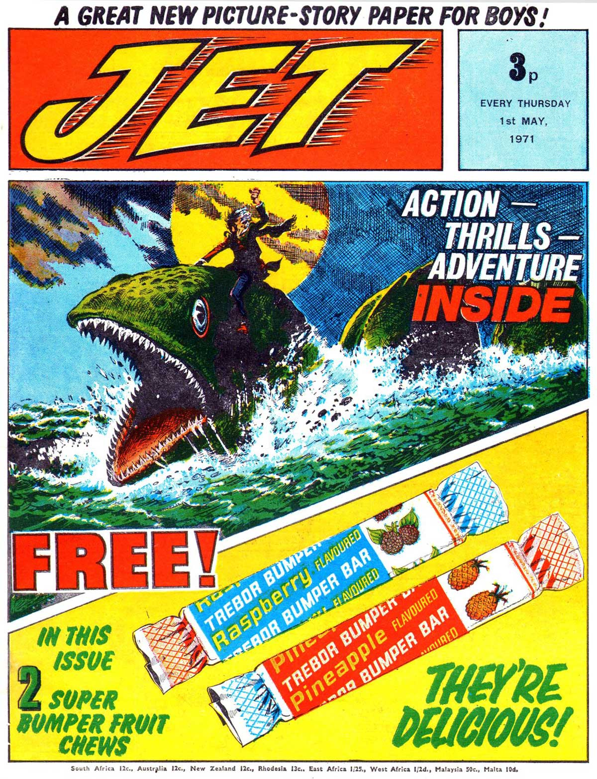Jet Issue 1 - cover date 1st May 1971 - Cover