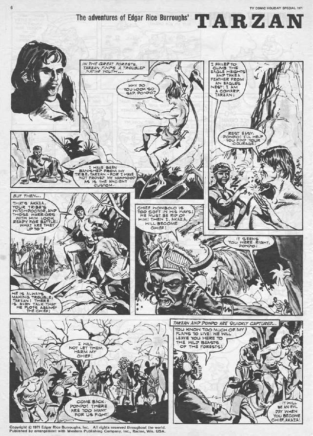 """TV Comic Holiday Special 1971 - """"Tarzan"""""""