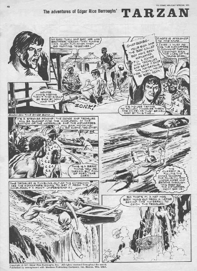 """TV Comic Holiday Special 1971 - """"Tarzan"""" - Jim Baikie"""