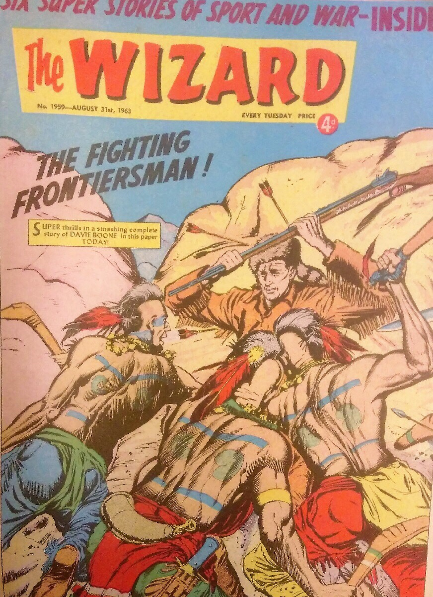 The cover of Wizard 1959, cover dated 31st August 1963. The art is believed to be by Jim Watson