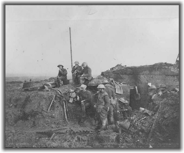 Captured German dugout on the Somme taken months later