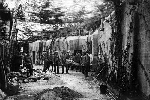 Formidable German Bunker on the western front