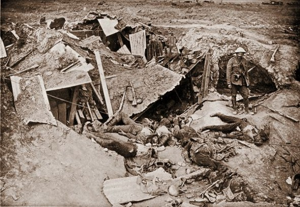 Smashed German position on the Somme