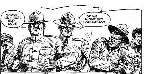 The censored race scene